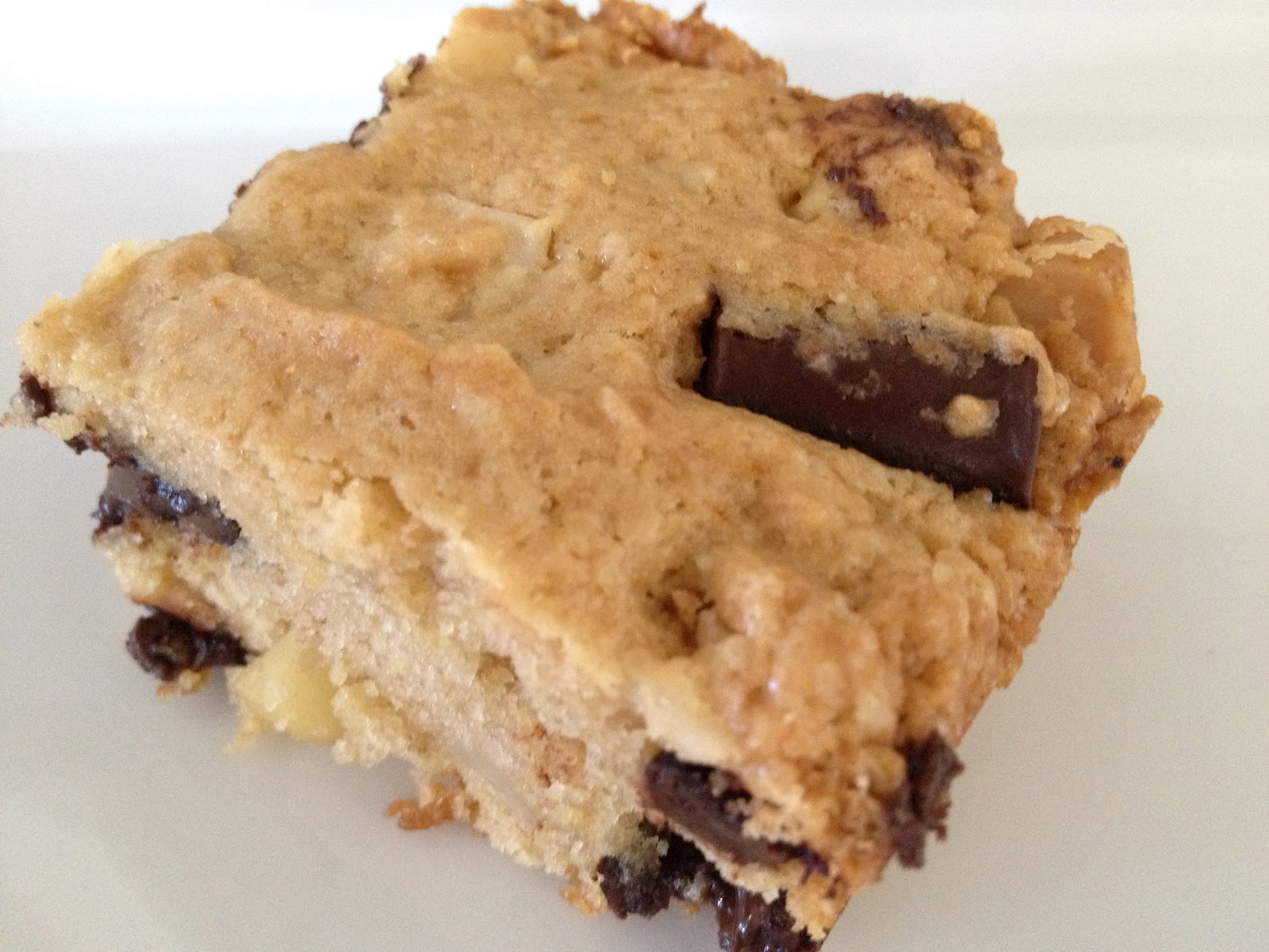Macadamia Nut And Chocolate Chip Blondies Recipe — Dishmaps
