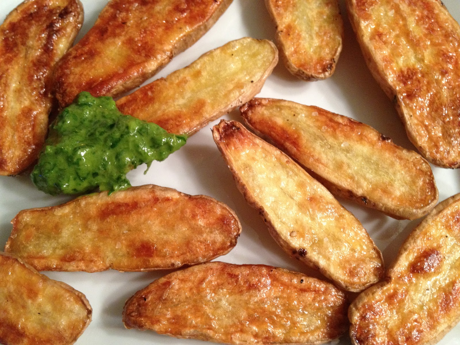Roasted Fingerling Potatoes With Chive Dipping Sauce Lisa 39 S Project Vegan