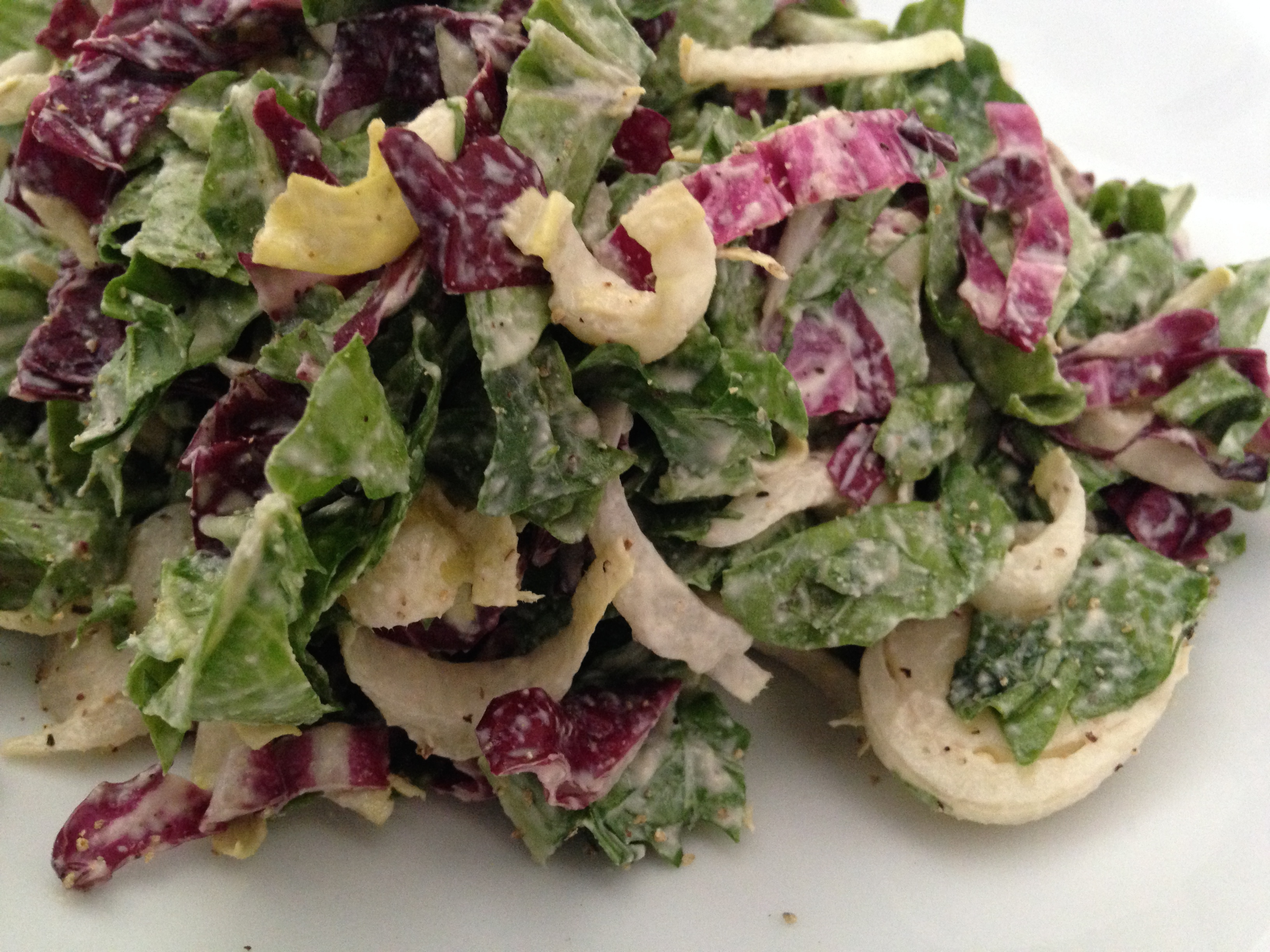 Tricolore Salad with Creamy Italian Dressing | Lisa's Project: Vegan